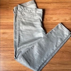 Express jean legging silver